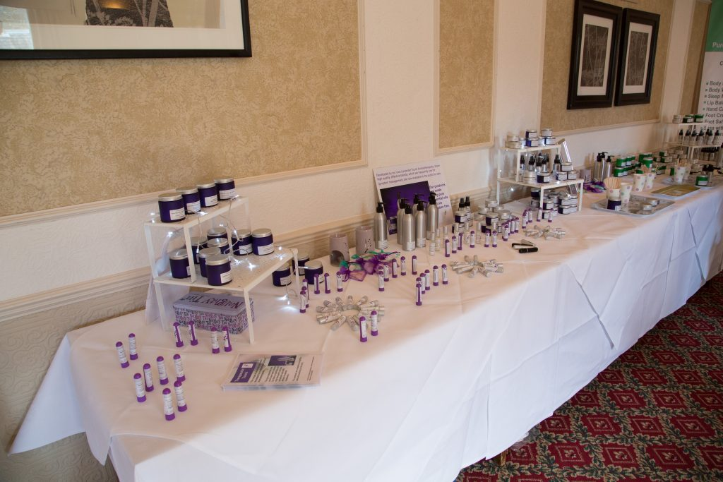 Our aromatherapy-based product range was launched